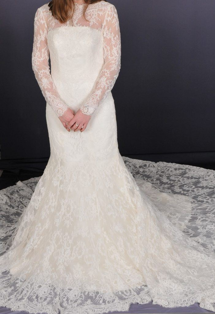 Long Sleeved Wedding Dress - Front