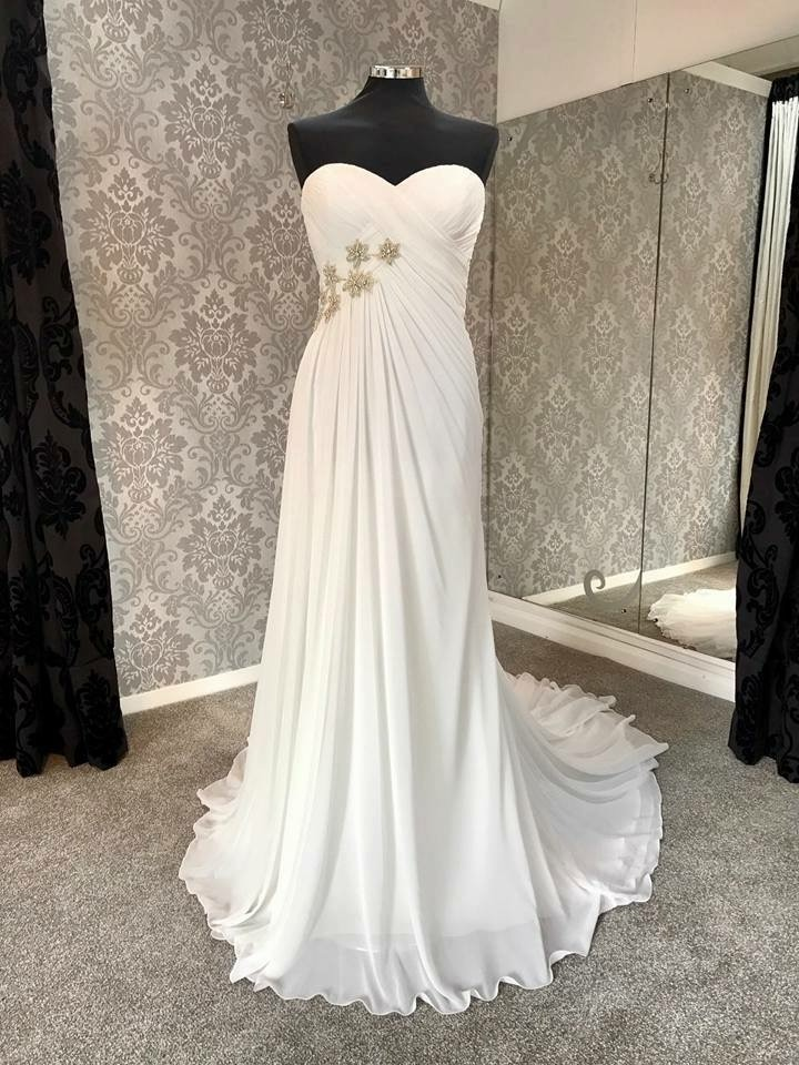 Sleeveless Bridal Dress - Front