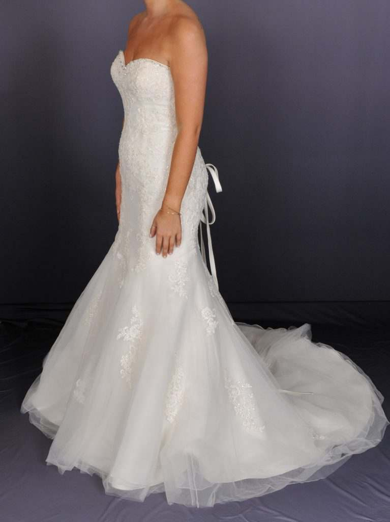 Sleeveless Corset Wedding Dress - side view