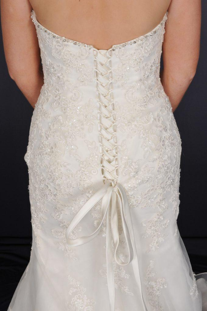 Sleeveless Wedding Dress - Corset Detail