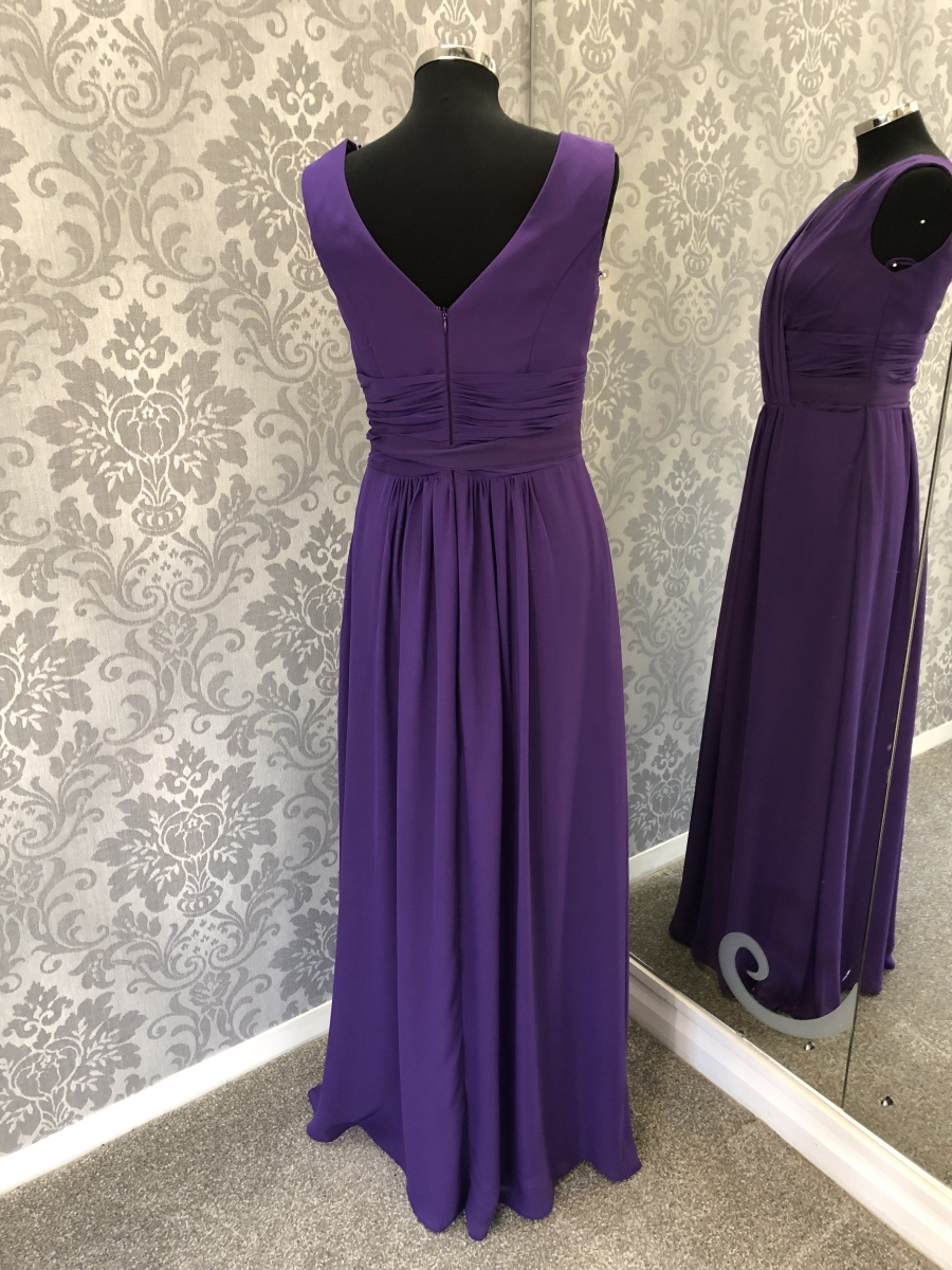 Dark Purple Bridesmaid Dress - Back
