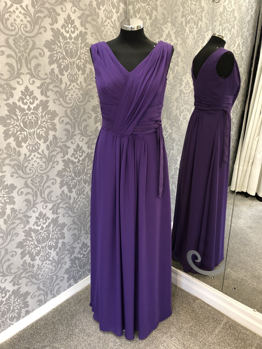 Dark Purple Bridesmaid Dress - Front