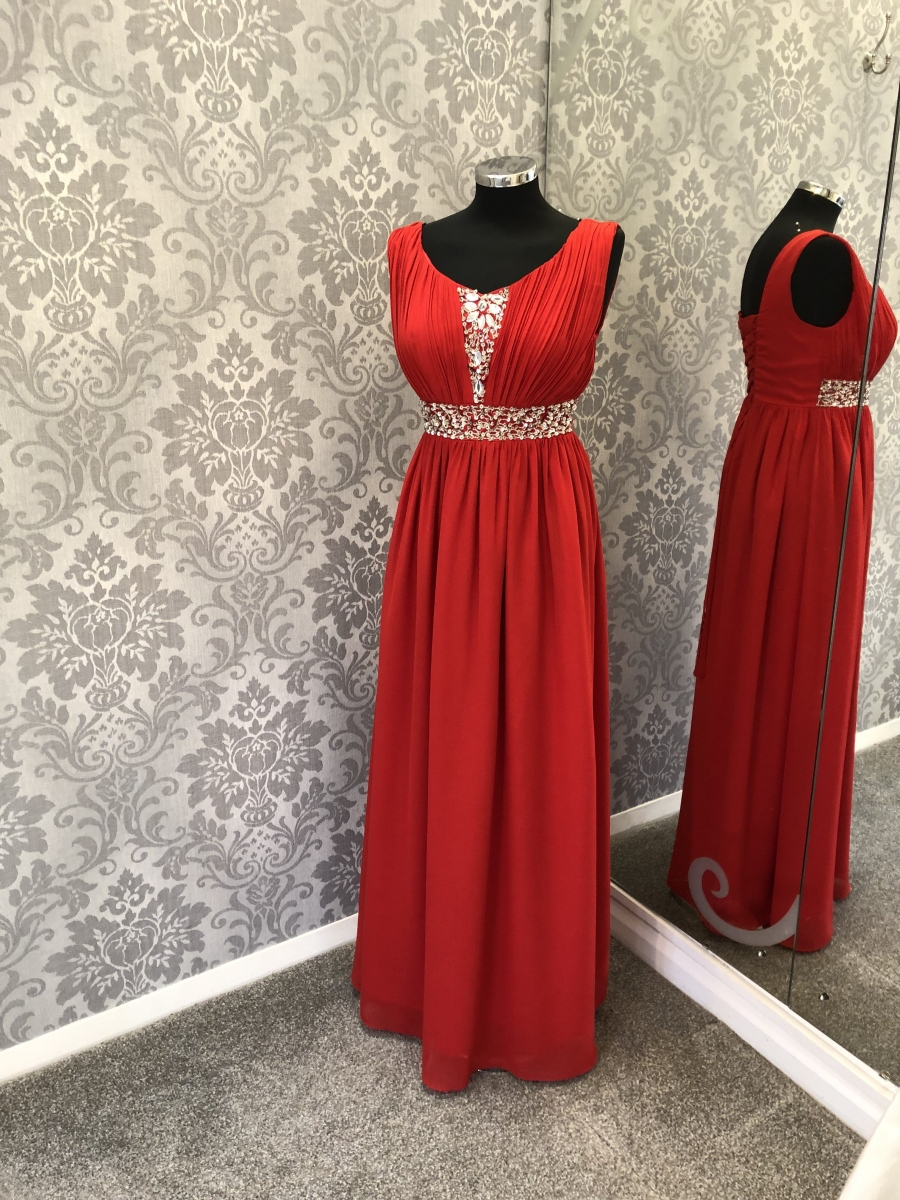 Red Bridesmaid Dress - Front