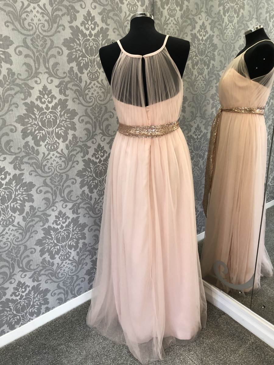 Grecian Style Bridesmaid Dress - Back