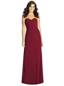 Dessy Burgundy Bridesmaid Dress - Front
