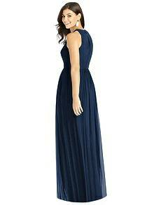 Dessy Midnight Blue Bridesmaid Dress - Rear