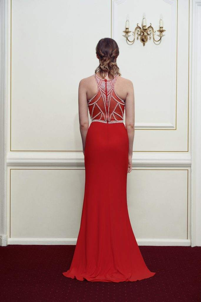 Red Kiss Me Kate Prom Dress - Back