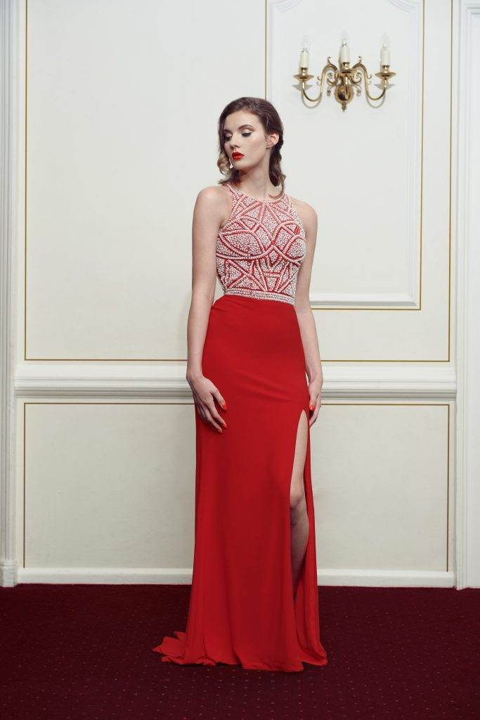 Red Kiss Me Kate Prom Dress - Front