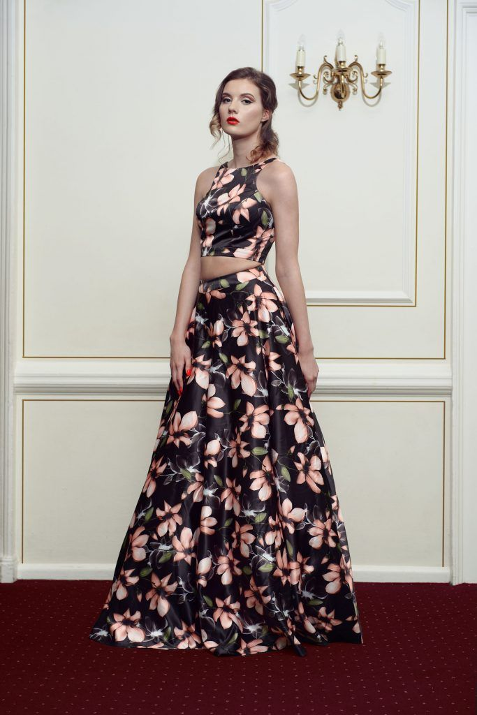 Floral Kiss Me Kate Prom Dress - Front